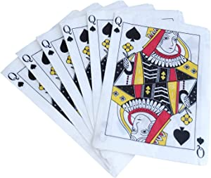 Casino Party Napkins - 50 Pack Queen of Spades Playing Card Shaped Disposable Paper Party Napkins 5