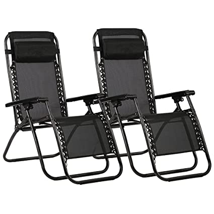 zero gravity chair amazon Amazon.: Zero Gravity Chairs Case Of (2) Black Lounge Patio  zero gravity chair amazon