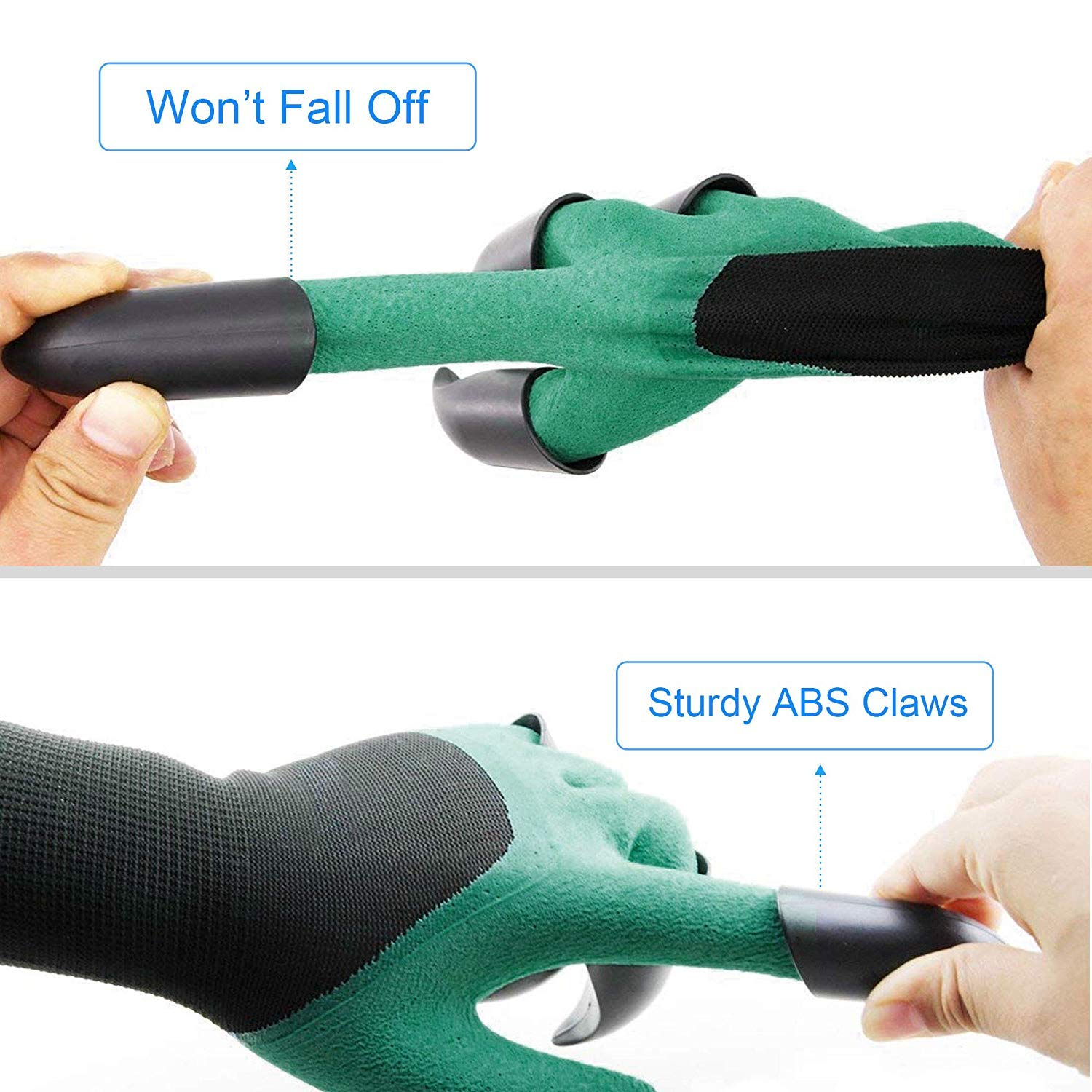 Tools 1 Pair Garden Digging Gloves With 4 Right Hand Fingertips Sharp+fork Claws Making Things Convenient For The People