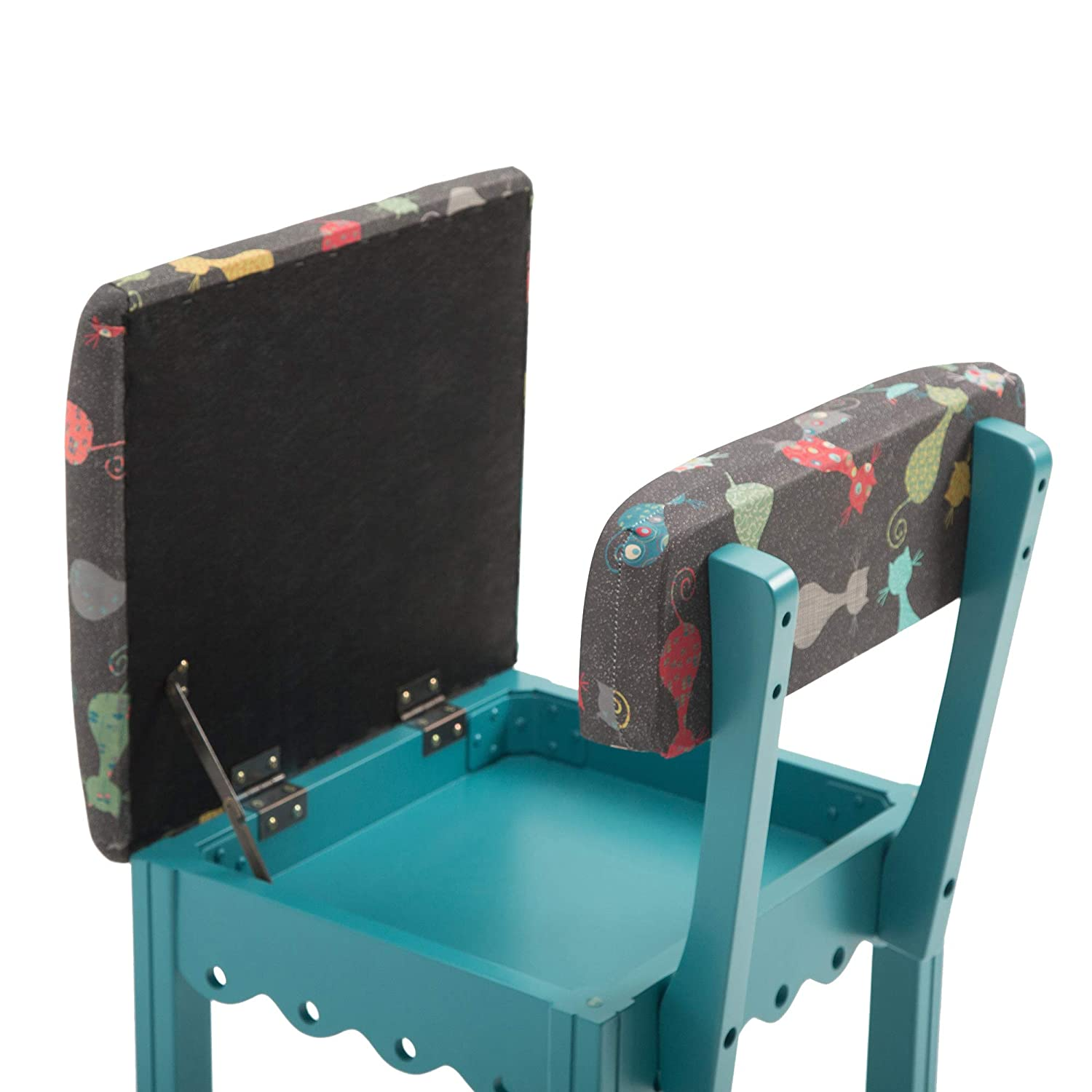 Arrow 6109 Jewel Tone Blue Wooden Chair with Grey Cat Fabric
