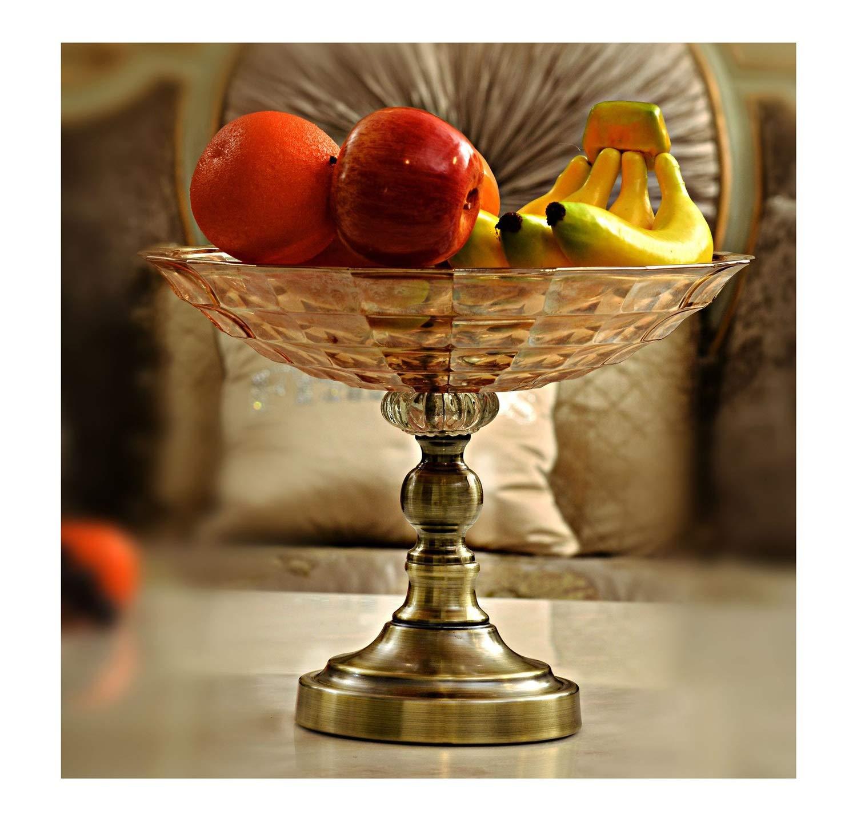 フルーツバスケット- クリスタルガラスフルーツボウルヨーロッパ人格リビングルームの装飾装飾モデルクリエイティブ工芸品高級フルーツプレート WPQW   B07RTQ275M