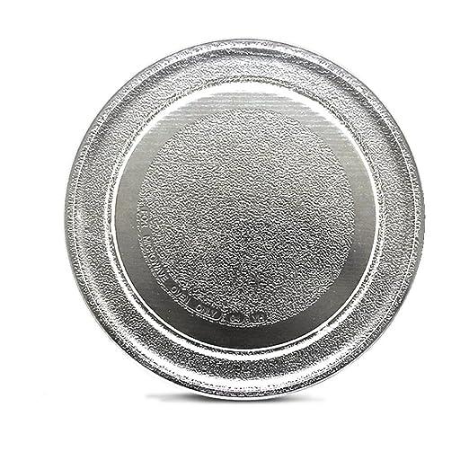 Plato de cristal para horno de microondas, plato de cristal de ...