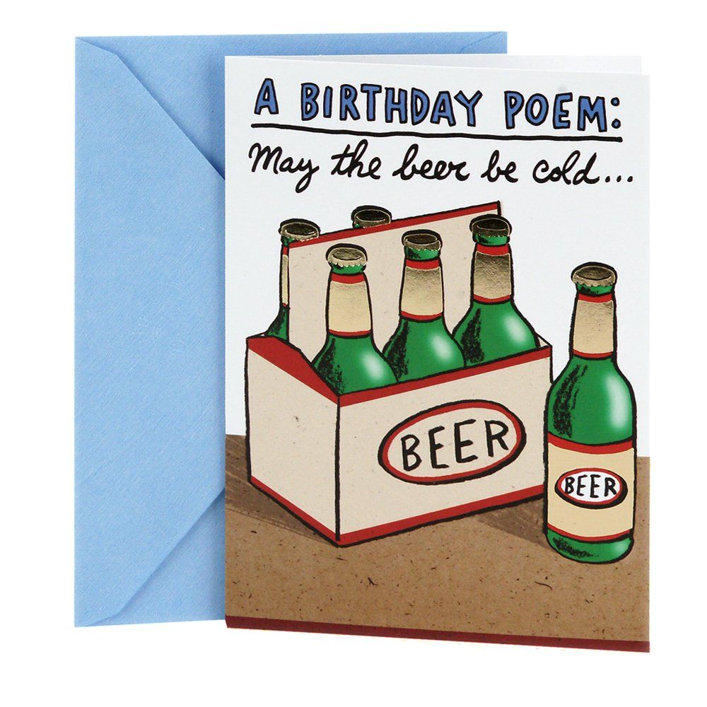 Amazon Hallmark Shoebox Funny Birthday Card Cold Beers Office Products