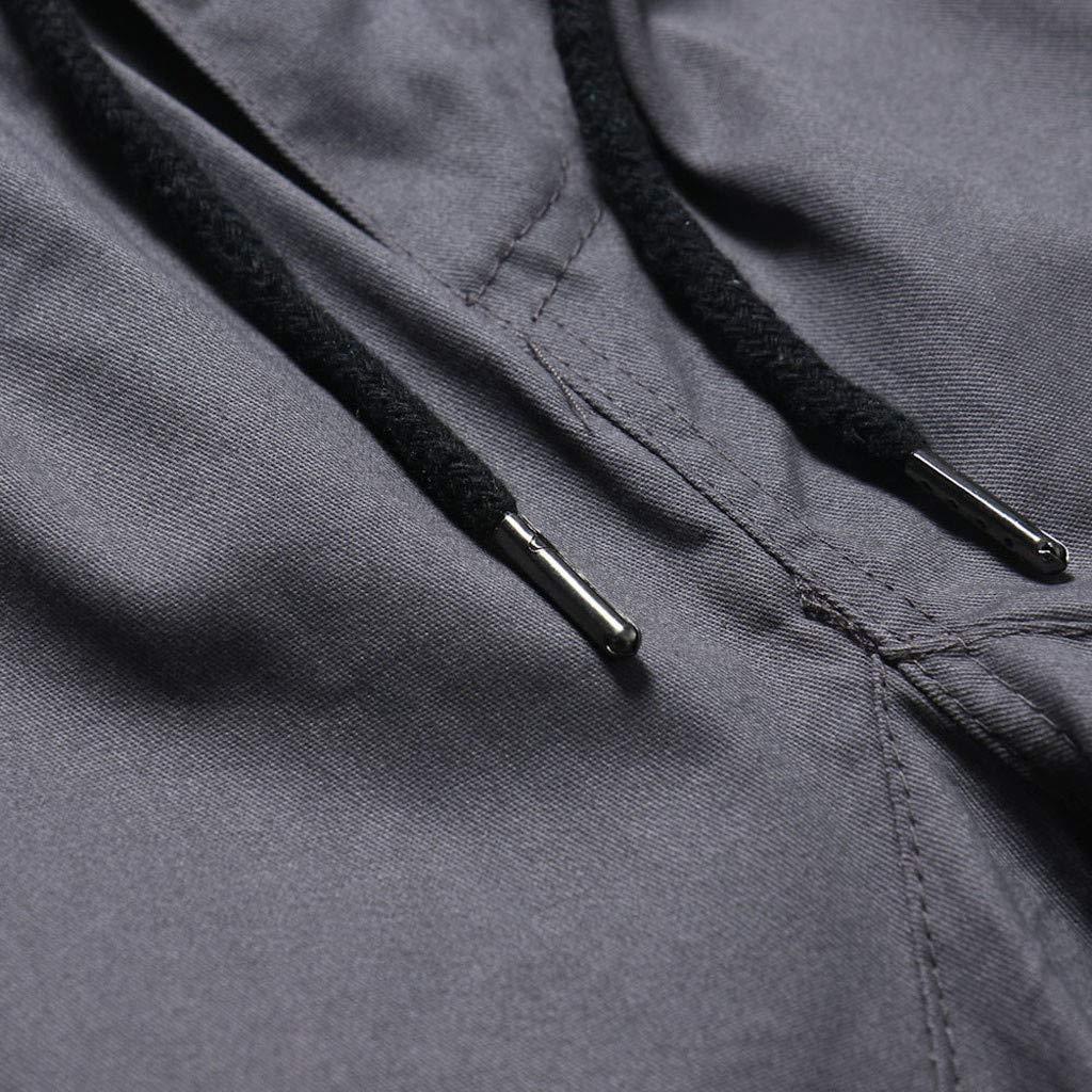 ◆◆xinxinyu Pantaloncini Sportivi Multitasche Casual da Uomo alla Moda in Puro Colore con Fasciatura Casual Pantalone Sportivo Allentato con Coulisse Pantalone,M-4XL
