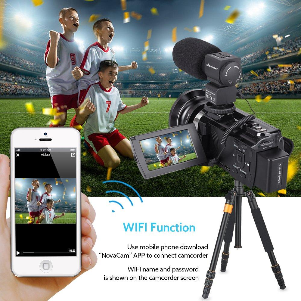 4K Camcorder, Mbuynow Video Camera 48MP 30FPS Ultra HD WiFi Digital Camera  IR Night Vision 3 0