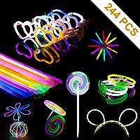 Varitas Luminosas para fiestas,kit Glow Sticks para Pulseras