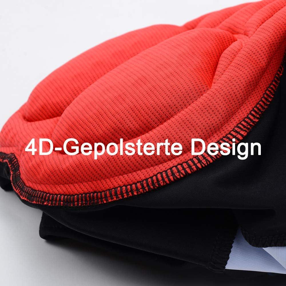Schnelltrockende elastische Herren Radhose haben Reflektoren Cycorld Fahrradhose Herren Radlerhose mit 3D Coolmax Sitzpolster