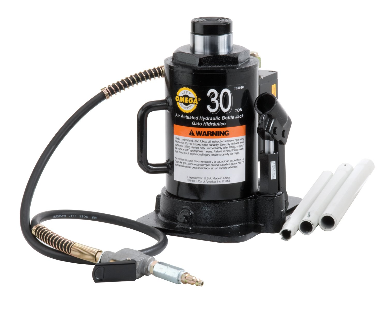 Amazon.com: Omega 18302C Black Hydraulic Bottle Jack - 30 Ton Capacity: Automotive