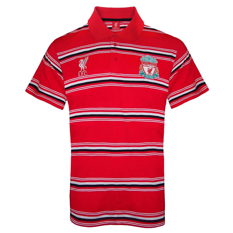 Liverpool FC - Polo oficial para hombre - A rayas - Rojo - 3XL ...