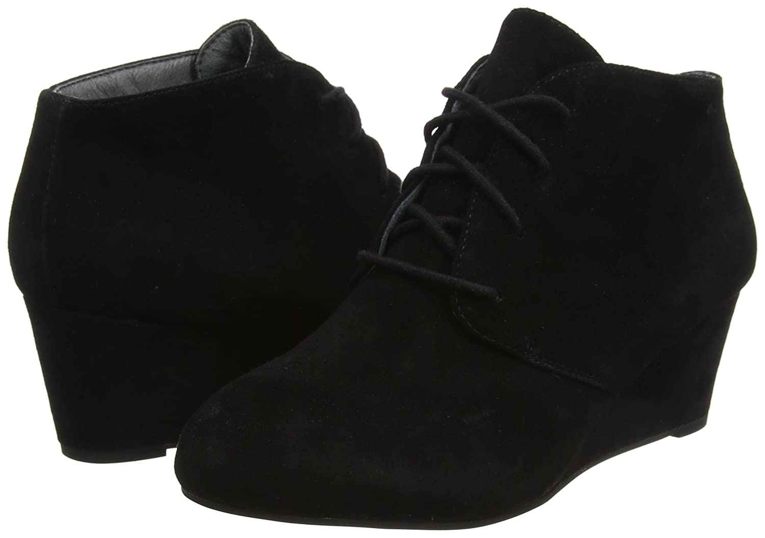 Vionic Womens Elevated Becca Wedge Lace-Up B018TQVHZS 7.5 B(M) US|Black