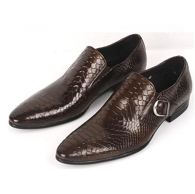 GTYMFH Cuero Serpentina Trajes Zapatos De Hombre Moda Juegos ...