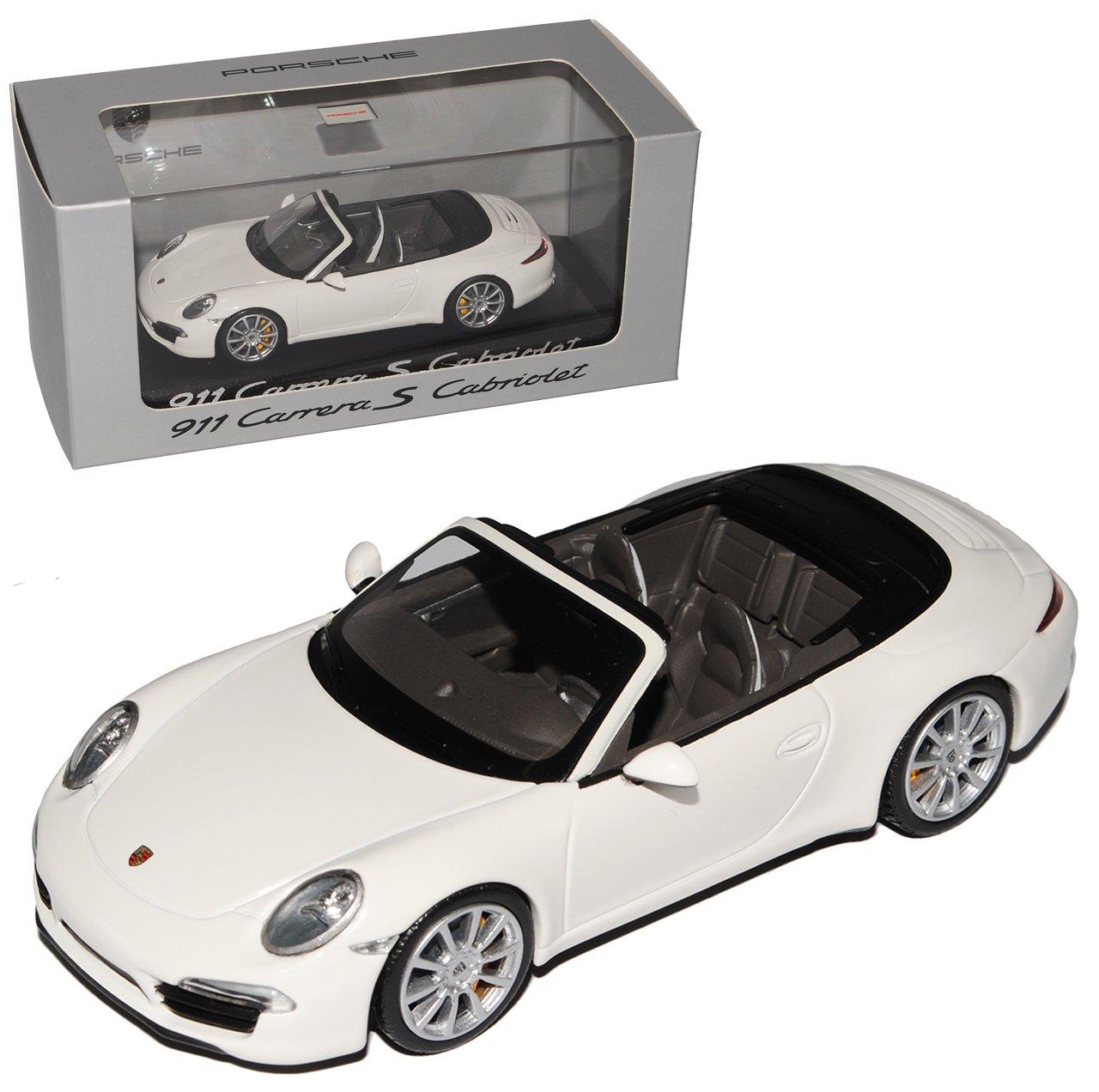 Minichamps Porsche 911 991 Cabrio Carrera S Weiss Ab 2012 1/43 Modell Auto