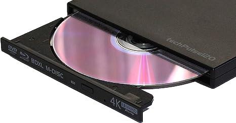Techpulse 120 DVDRW MASTERIZZATORE ESTERNO CD ROM unità Ultraslim BLACK unità SuperDrive