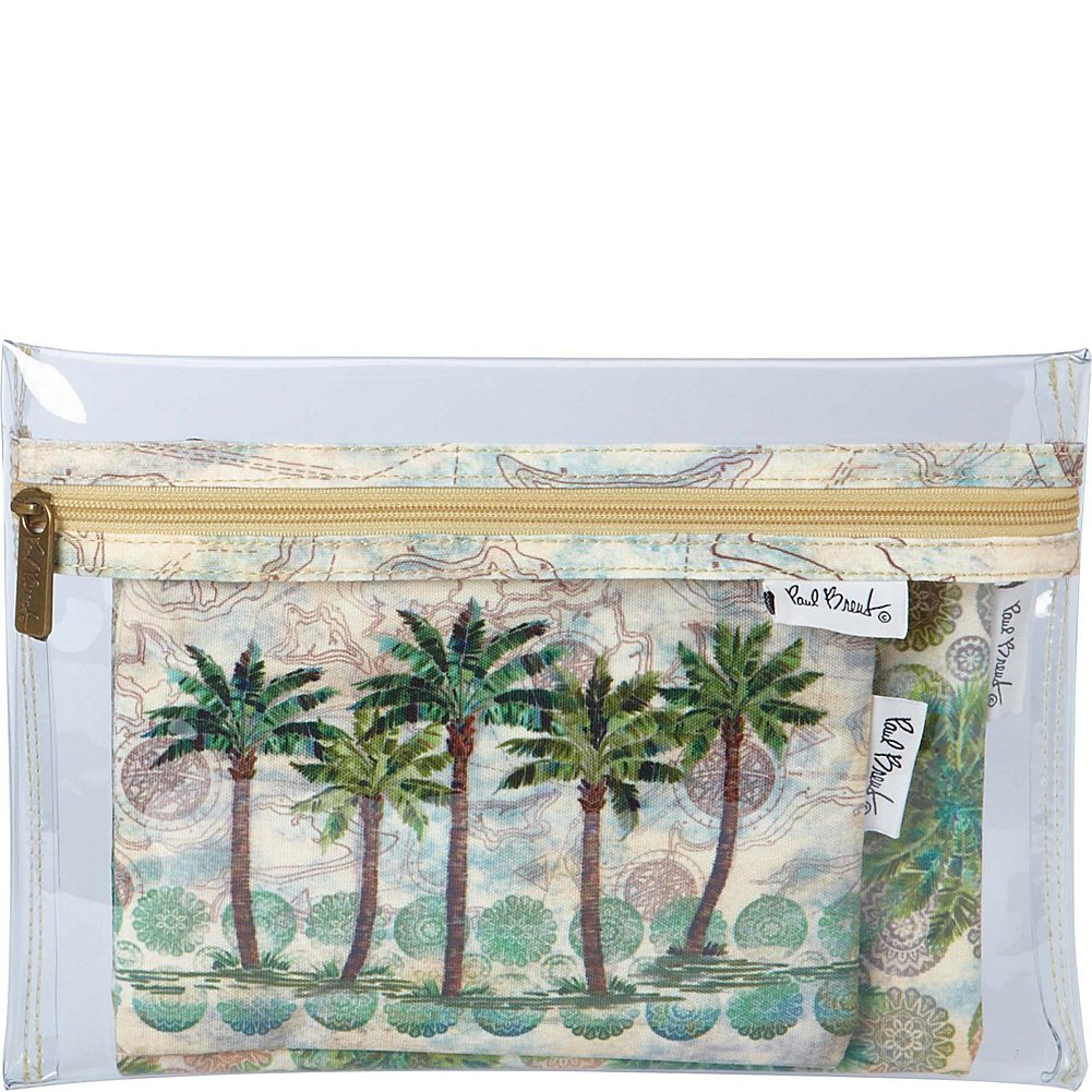 Sun N Sand Paul Brent Artistic Canvas Wallet Del Ray Palm
