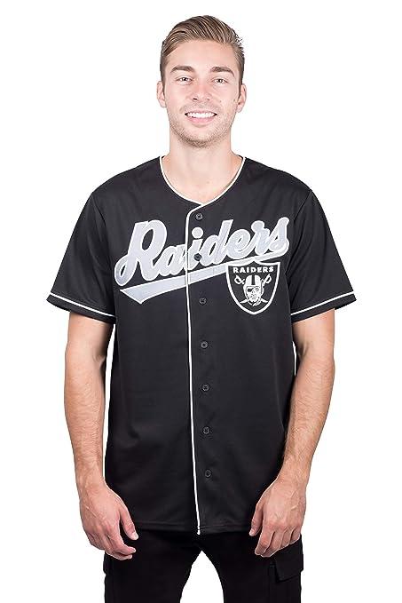 Icer Brands NFL Oakland Raiders - Playera de béisbol para Hombre ... b3e95e5d232