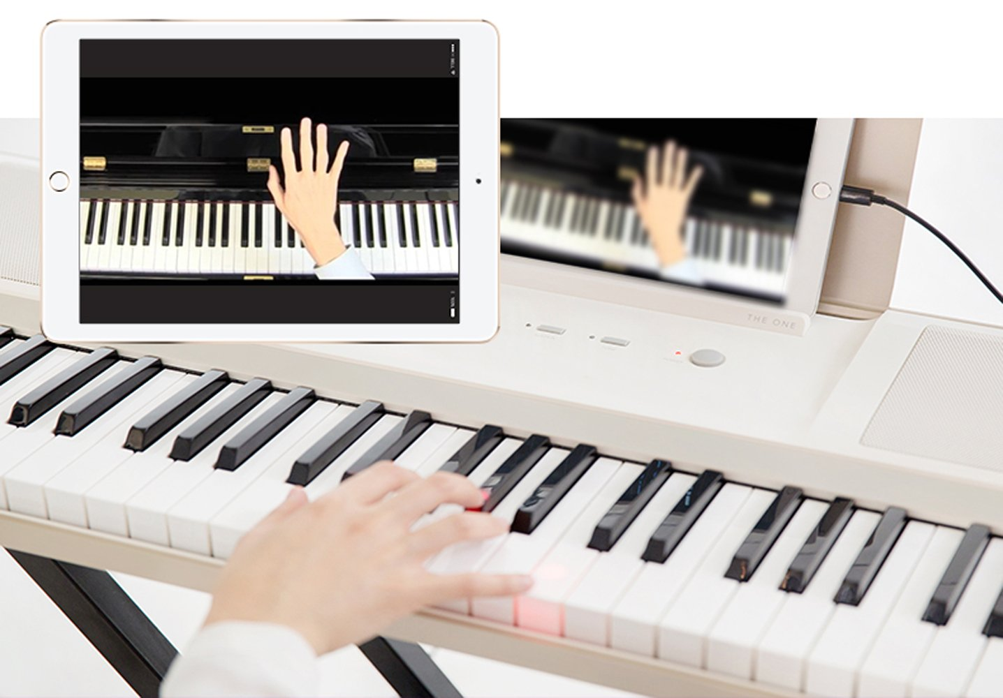 The ONE Smart Piano 61-Key Portable Light Keyboard, USB MIDI Electronic Keyboard Piano - Onyx Black by The ONE Smart Piano (Image #4)
