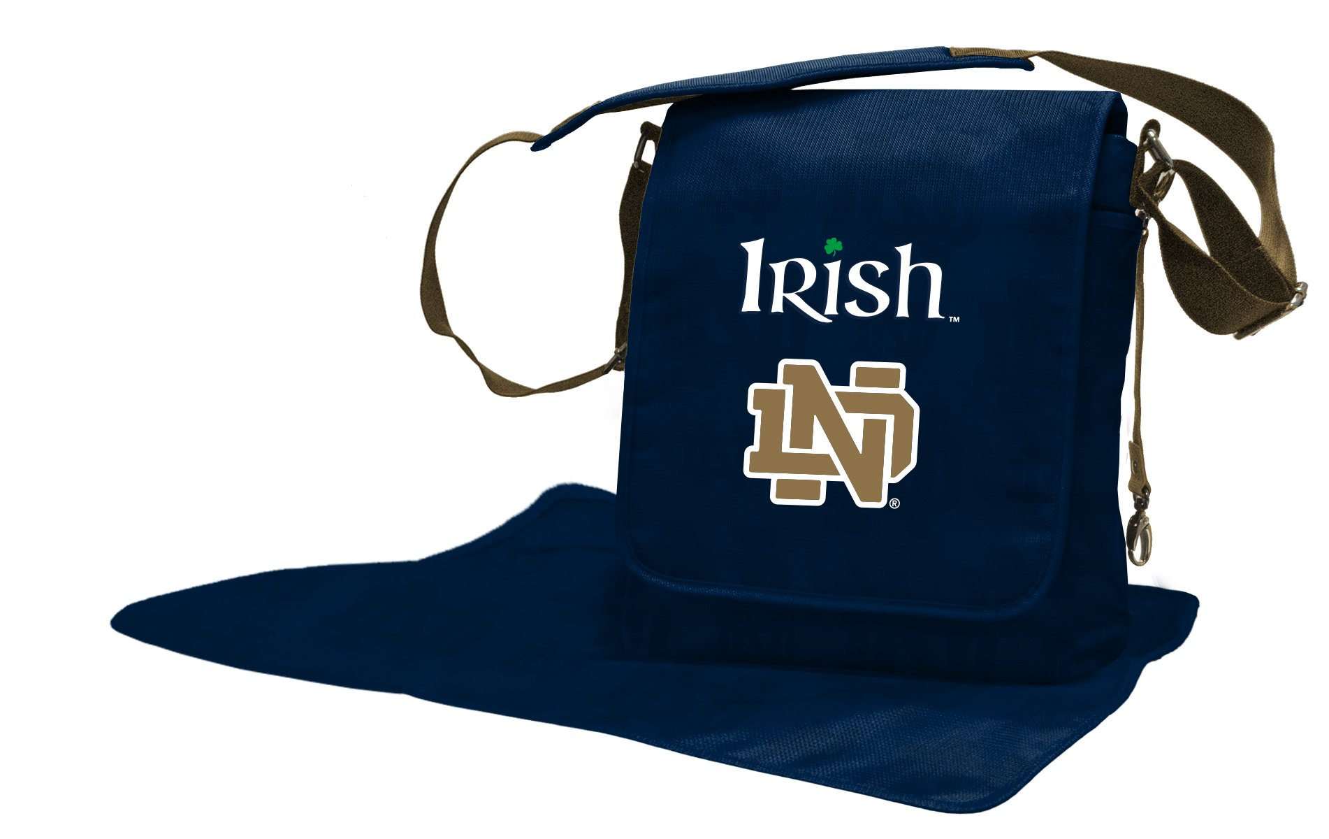 Lil Fan Diaper Messenger Bag, NCAA College Notre Dame Fighting Irish by Lil Fan