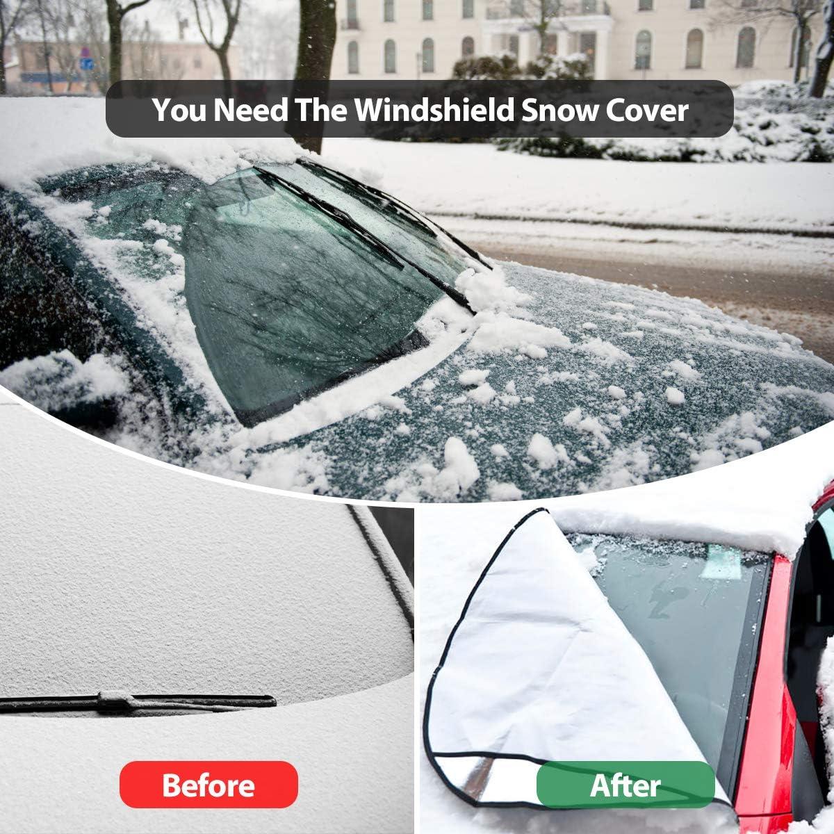 95.3*55.9 Windschutzscheibe Cover Protector wasserdicht Anti-Frost Schnee Sonnenschutz ROCONTRIP Auto Windschutzscheibe Frostschutz