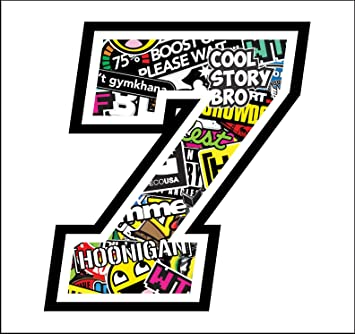 Adhesive Race - 7-12 cm - Sticker Bomb - Cross Pista de Coches ...