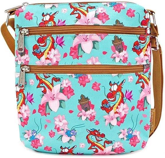 Handmade Small Handbag Tote Orange Pink Blue Mickey Mouse Flower Shower Pockets