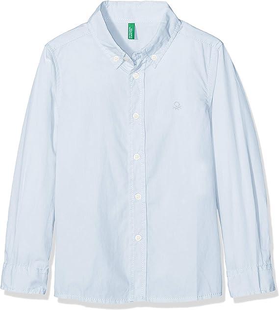 United Colors of Benetton Shirt Camisa, Azul (Celeste 081), Talla única (Talla del Fabricante: Large) para Niños: Amazon.es: Ropa y accesorios