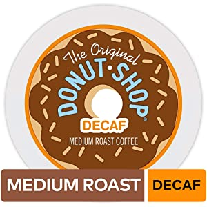 The Original Donut Shop Keurig Single-Serve K-Cup Pods, Medium Roast Coffee, DECAF, 12 Count, Pack of 6