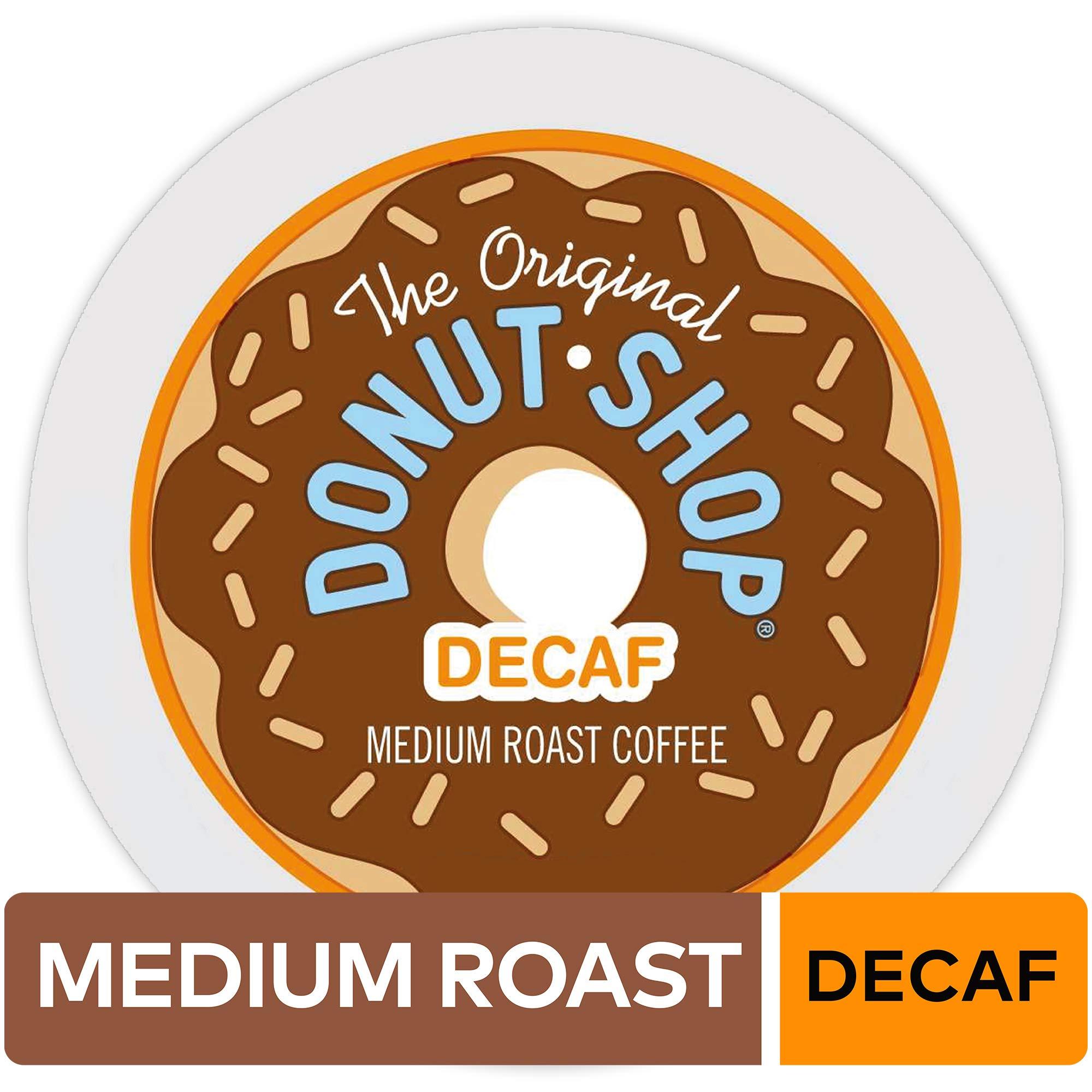 The Original Donut Shop Keurig Single-Serve K-Cup Pods, Medium Roast Coffee 12 count, DECAF (Pack of 6), 72 Count