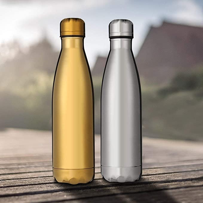 500 ml Ministar Botella de agua de acero inoxidable con aislamiento al vac/ío