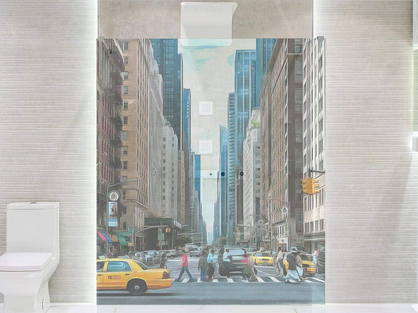 Vinilo Transparente para Mamparas de Ducha y Baños Nueva York ...