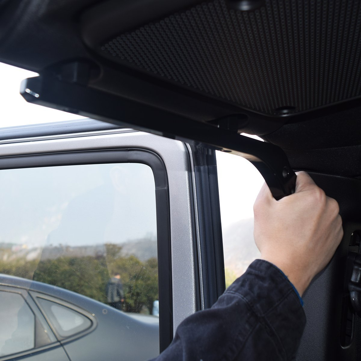 Black Pair American 4wheel Jeep Wrangler Grab Bar Grab Handles Door Handle Rear Grab Handle Jeep Wrangler Accessories JK JKU /& Unlimited Rubicon Sahara Sports,2007-2018,New Aluminum