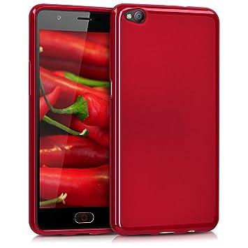 kwmobile Funda para ZTE Nubia M2 Lite - Carcasa para móvil en TPU Silicona - Protector Trasero en Rojo Mate
