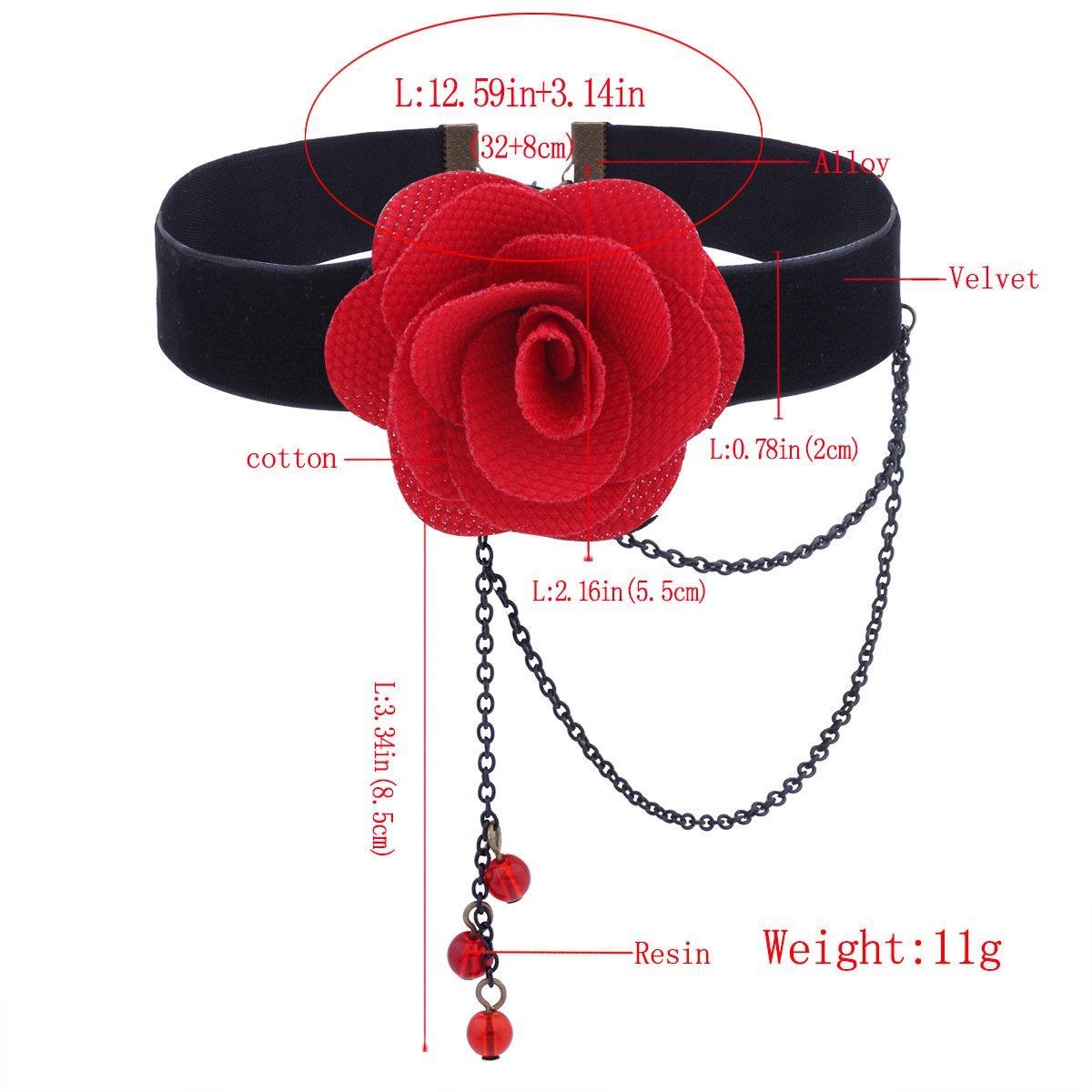 Etgu Lolita Choker Necklace Set-Elegant Vintage Princess Black Lace Gothic Necklace Bracelet Victorian Lolita Choker Pendant Vampire Chain