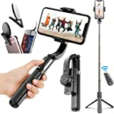 Gimbal Stabilizer for Phone Bluetooth Selfie Stick Tripod Anti-Shake Handheld CellPhone TripodStand Holder for Smartphone i