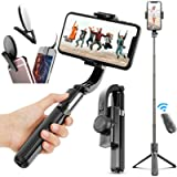 Gimbal Stabilizer for Phone Bluetooth Selfie Stick Tripod Anti-Shake Handheld Cell Phone Tripod Stand Holder for…
