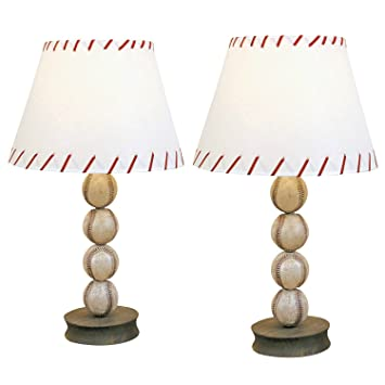 dei baseball ball sports table lamp accent desk light 2 pack - Baseball Lamp