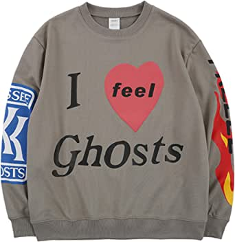 Kanye Lucky Me I See Ghosts Hoodie Hip Hop Heavyweight Hooded Gray