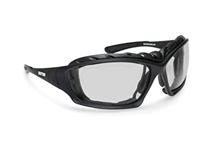 496ad744676 Bertoni Motorcycle Goggles Padded Glasses Interchangeable Arms and Strap - Antifog  Lens - Optical Prescription Carrier