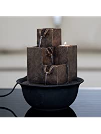 Shop amazon tabletop fountains diensday indoor tabletop fountain decor home light relaxation cascading rock pump waterfall fountains zen small desk workwithnaturefo