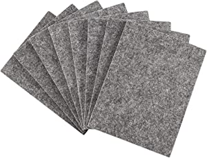 "Softtouch 4 1/2 X 6"" Self-Stick Furniture Felt Sheet for Hardwood Cut into Any Shape Gray, 8 Pack"