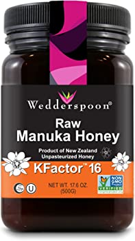 Wedderspoon 17.6 Oz Raw Premium Manuka Honey KFactor 16