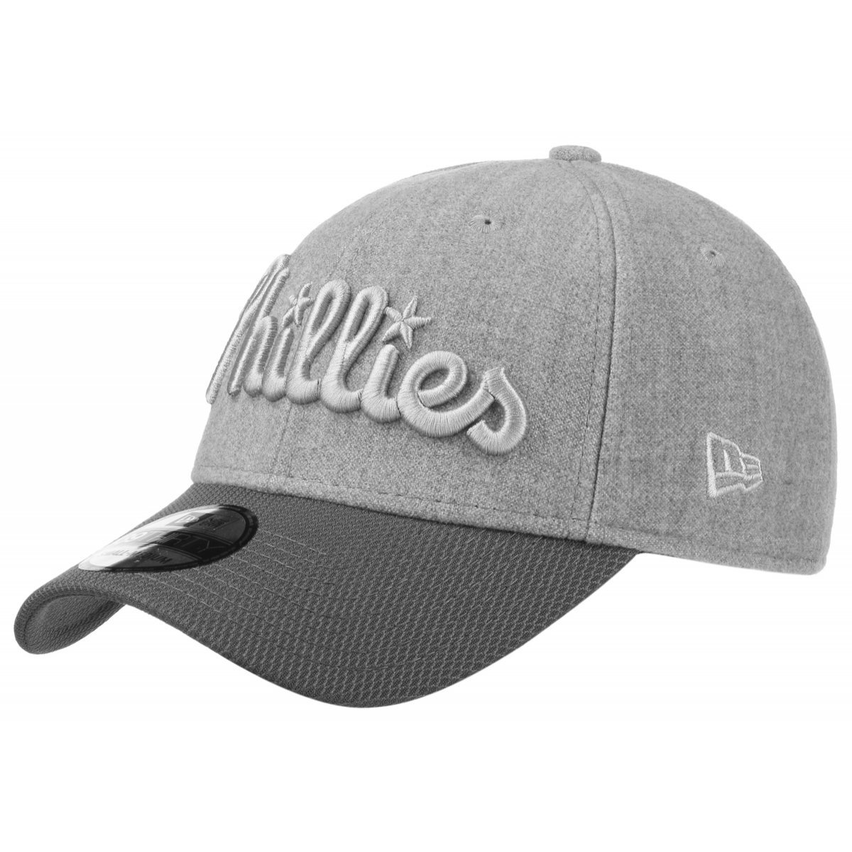 finest selection 286f9 6c7ca Stretch Melton Phillies Cap NEW ERA cap fitted cap (L XL (58-61) - grey)   Amazon.co.uk  Clothing