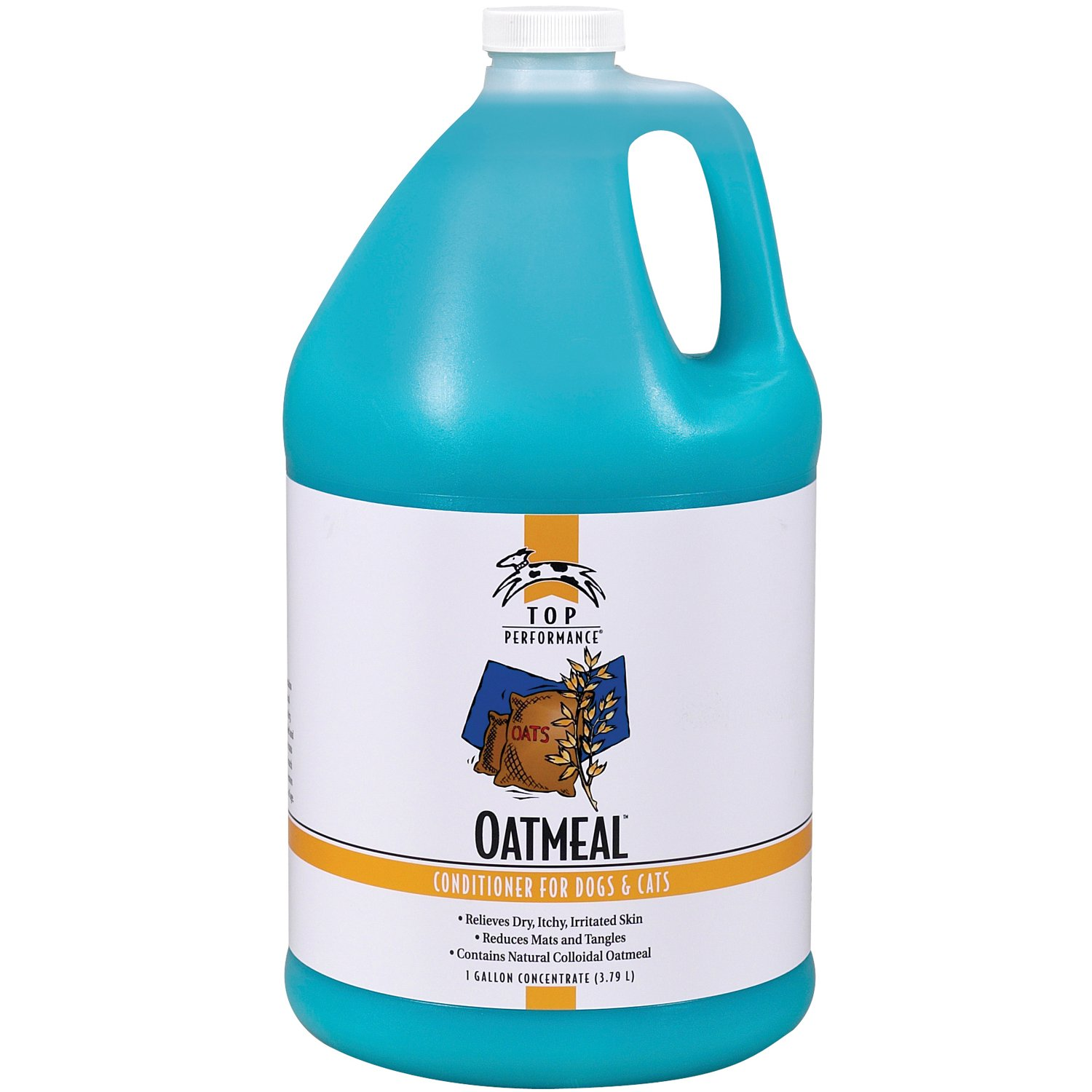 Top Performance Oatmeal Pet Conditioner, 1-Gallon by Top Performance