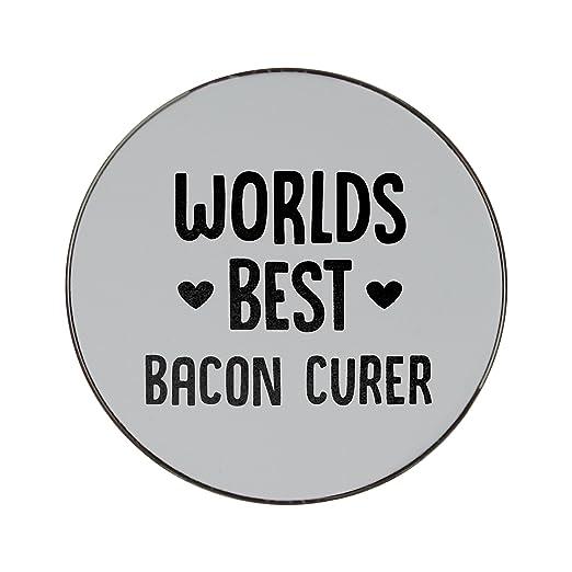 Mundial de mejor Bacon curer Metal redondo imán para nevera ...