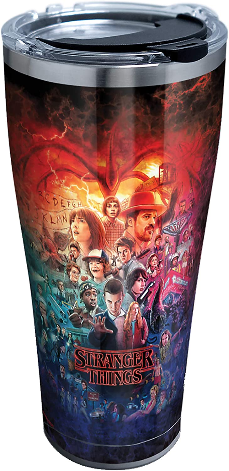 Amazon Com Tervis Stranger Things Insulated Tumbler 30oz Stainless Steel Montage Tumblers Water Glasses