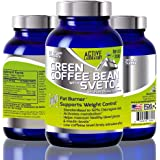 Best Pure Green Coffee Bean Extract with SVETOL - 1600mg - Standardized to 50% Chlorogenic Acids - Best Formula for Weight Loss - Women and Men - 100% Guaranteed By Active Laboratory