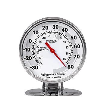 Leepesx Termómetro de refrigerador de congelador de acero ...
