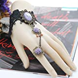 Jurxy Black Lace Fingerless Gloves Women Flower