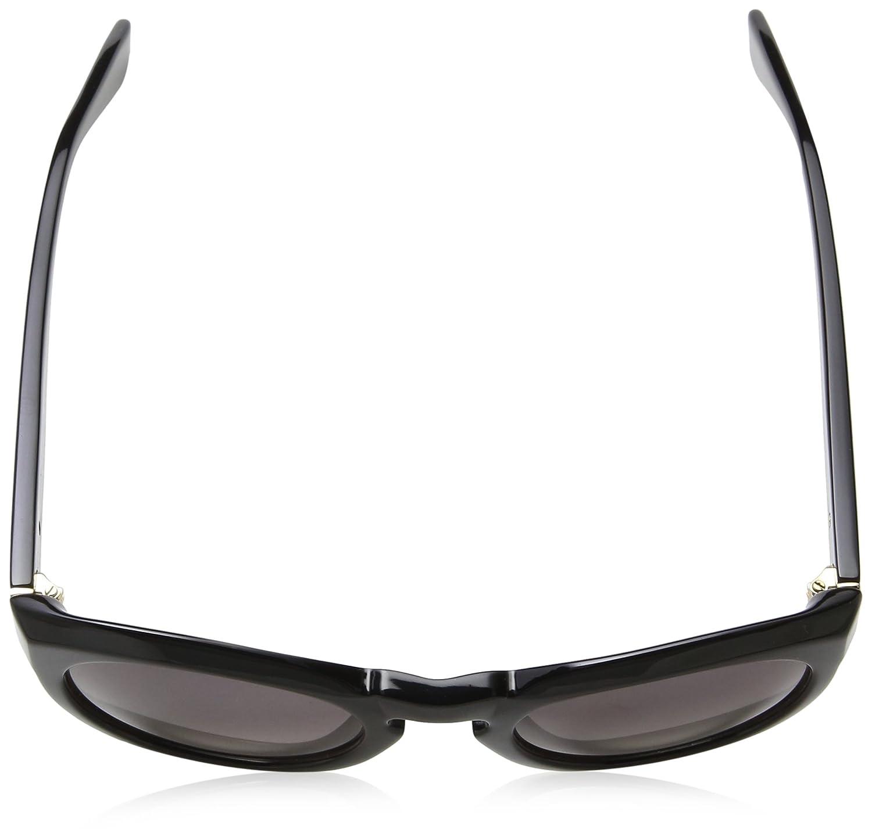 Trussardi Str018, Occhiali da Sole Donna, Beige (Shiny Black), Taglia unica