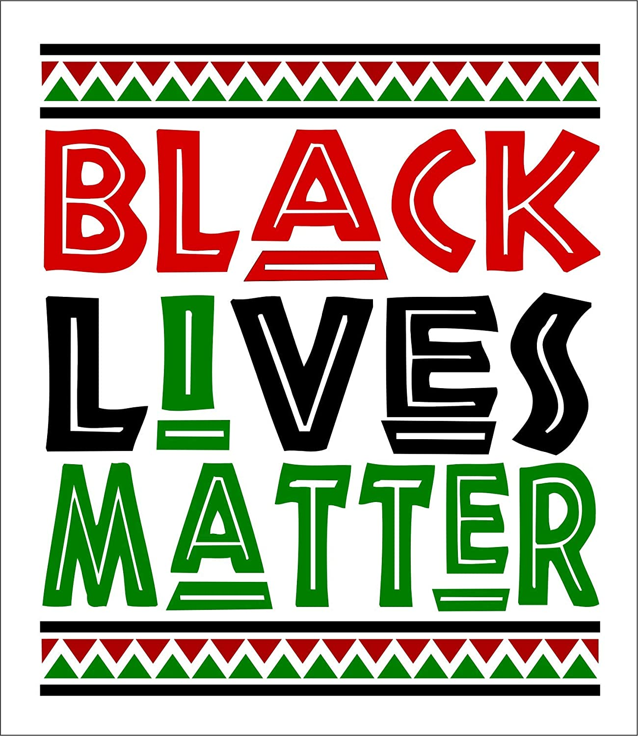 Black Lives Matter BLM Anti Racism Movement Small Bumper Sticker or Laptop Decal 3.25-by-3.75 Inches
