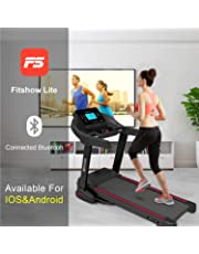 Murtisol Bluetooth Folding Treadmill Walking Running Exercise Fitness Machine Easy Control Home Gym,Easy Assembly, with Smartphone APP Control,Removable iPad & Cup Holder,12 Pre-Programs and Adjustable Speed